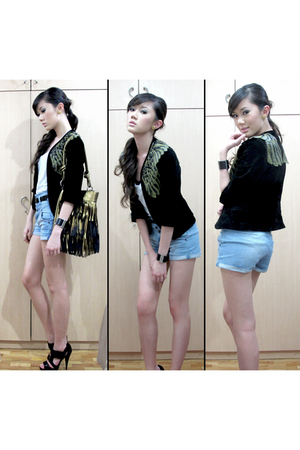 Vivienne Tam purse - Topshop shirt - Topshop shorts - H&M belt - Aldo accessorie
