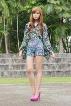 Call it Spring pumps - Coexist shorts - worn as top Eudora cardigan
