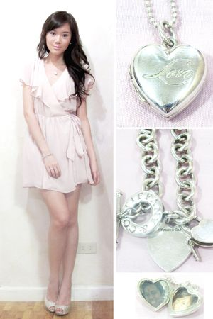 Topshop dress - Tiffany necklace - Tiffany bracelet - Zara shoes -