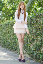 vantan skirt - pinkaholic top - Extreme finds necklace