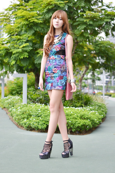 Surco dress - michael antonio heels - island girl accessories