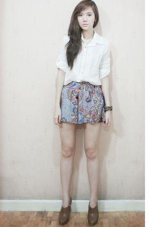 Zara shoes - Bershka shorts - thrifted top