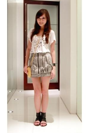 top Topshop - skirt Topshop - bag Topshop - shoes Sole - watch calvin klein