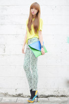 feet for a queen heels - Dazzled bag - Love Clothing pants