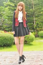 Sugarlips blouse - She Inside skirt