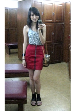 top Zara - skirt Undernourished - - vintage bag Celine - watch ck