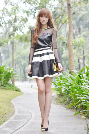worn as top Korean Rose dress - OASAP skirt
