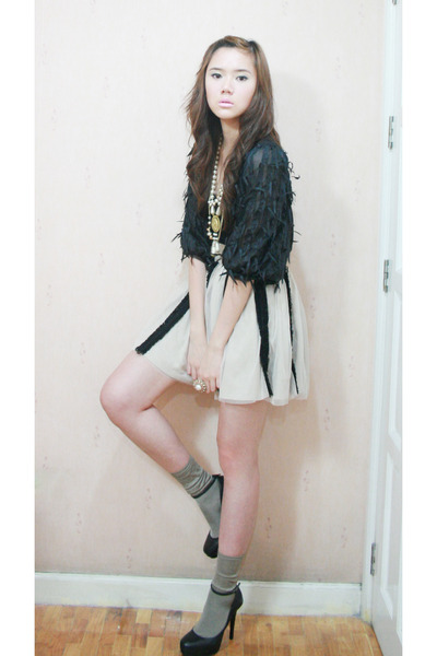 Korean cardigan - Marks and Spencer top - Forever 21 skirt - Aldo shoes
