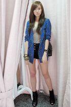 Topshop shorts - Aldo shoes - Korean blazer - Chanel bag - Aldo accessories
