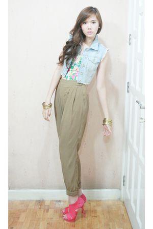 Topshop vest - Zara shoes - Topshop top - Topshop pants
