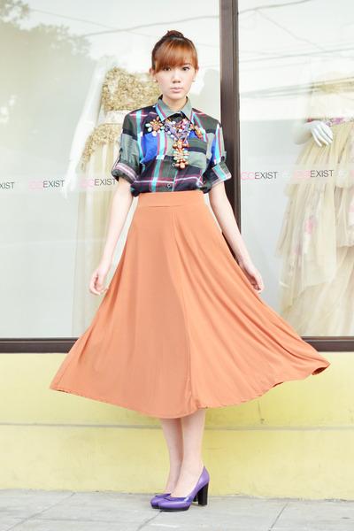 pinkaholic skirt - comfit shoes - Laia necklace - Bubbles necklace - WAGW top