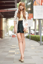 virgos lounge shorts - romwe blazer - Bubbles ring