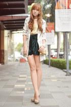 virgos lounge shorts - romwe blazer - Bubbles ring