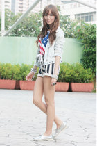 fashion avenue top - silver Sperry Top-Sider shoes - sm accessories scarf