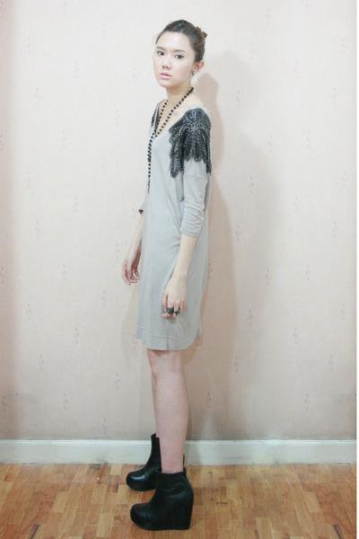 H&M dress - cotton on necklace - Aldo