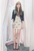 Kate Moss for Topshop jacket - Topshop dress - Schutz shoes