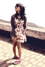 Red-keds-shoes-forever21-dress-mango-cardigan