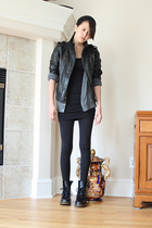 forever 21 jacket - American Apparel - American Apparel dress - Doc Marten