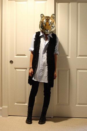 handmade vest - shirt - J Brand jeans - Doc Marten