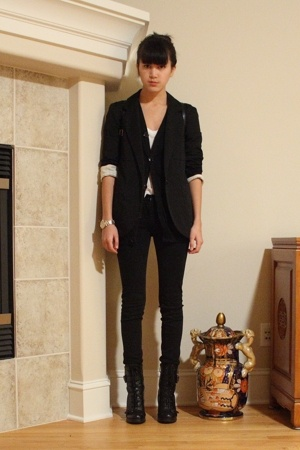 Target blazer - American Apparel - H&M - forever 21 pants - Guess from Solestruc