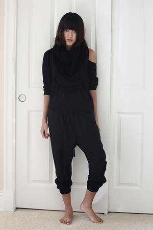 H&M scarf - American Apparel sweater - Zara pants