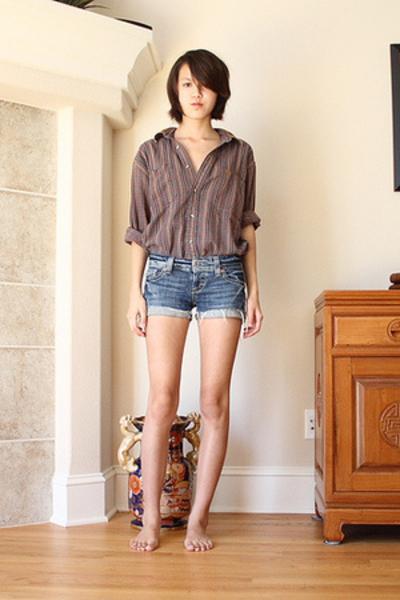 Eddie Bauer shirt - American Eagle shorts
