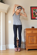 American Apparel top - forever 21 jeans - Old Navy shoes