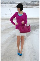 coach purse - Old Navy sweater - Joe Fresh skirt - urban originals pumps