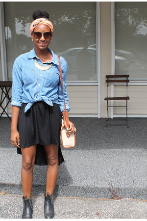 black hi-lo Moss skirt
