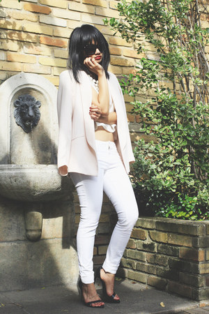 light pink Topshop blazer