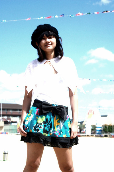 black bow from japan accessories - white used as top Zara dress