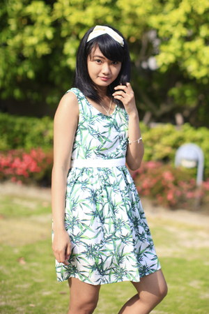 green EMODA dress