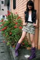 Petro Zilliia vest - F&H top - from japan belt - Zara skirt - from japan boots