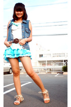 vest - from japan top - Mango belt - from japan skirt - from japan shoes
