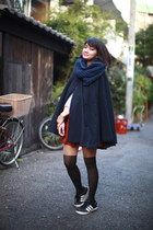 navy American Apparel cape