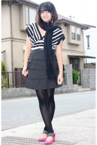 Cinema Club scarf - top - Cinema Club skirt - tights - Cinema Club shoes