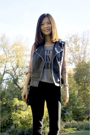 Forever 21 vest - Forever 21 shirt - DKNY watch