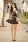 Black-asos-dress-dark-green-topshop-jacket-white-rose-wholesale-top