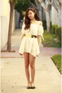 White-oasap-dress-gold-oasap-necklace