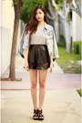 Light-blue-others-follow-jacket-white-ara-feel-shirt