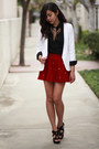 Ruby-red-star-studded-oasap-skirt-cream-bar-coat-black-h-m-shirt