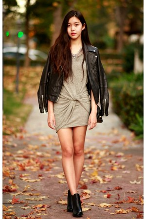 dark khaki OASAP dress