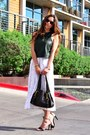 Army-green-crop-zara-top-white-floral-vintage-skirt-black-tibi-heels