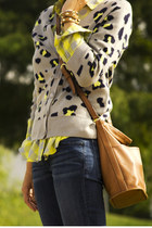 heather gray leopard print Takeout cardigan