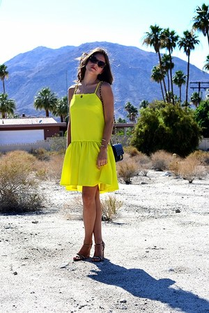yellow peplum asos dress