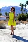 Yellow-peplum-asos-dress