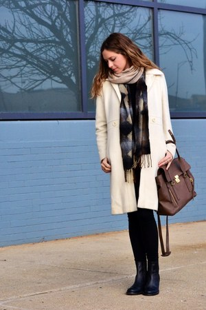 ivory Nine West jacket - black asos boots