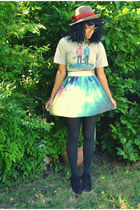 band shirt shirt - galaxy a-line OASAP skirt