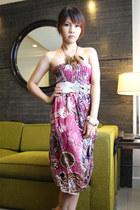 pink Bangkok Thailand romper - white Sparkle Shop belt