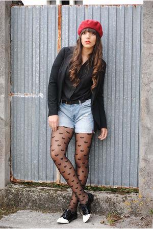 Zara shirt - denny rose blazer - H&M shorts - Cuple shoes - H&M hat
